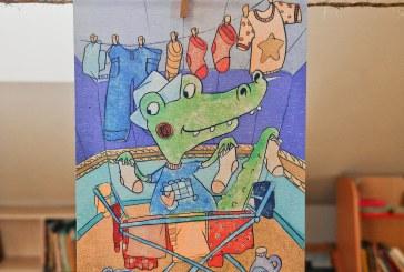 """Gretos Alice komiksų paroda """"Mėlynasis krokodilas"""""""