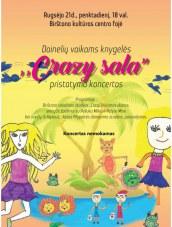 """Dainelių vaikams knygelės """"Crazy sala"""" pristatymo koncertas Birštono KC"""