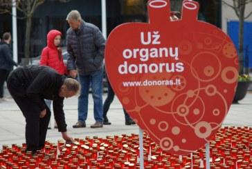 Spalio 19 d. Laisvės aikštėje – organų donorystės palaikymo akcija