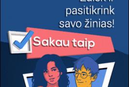 Žaidimas www.sakautaip.lt – smagus būdas išvengti spąstų internete