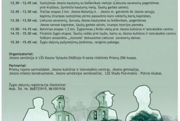 Vasario 2 d. žygis Birštono savivaldybės ir Jiezno seniūnijos vietovėmis