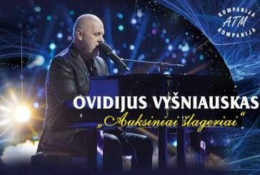 """Prienuose apsilankys Ovidijus Vyšniauskas su programa""""Auksiniai šlageriai"""""""