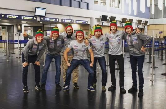 """""""Agrorodeo"""" komanda.  Egidijus Janavičius trečias iš dešinės."""