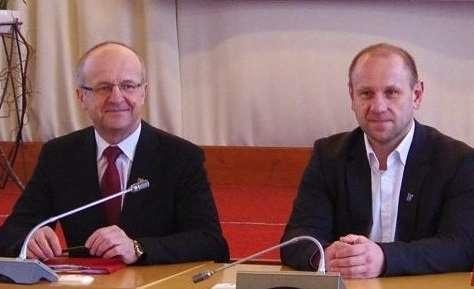Prienų rajono savivaldybės meras Alvydas Vaicekauskas ir savivaldybės administracijos direktorius Egidijus Visockas