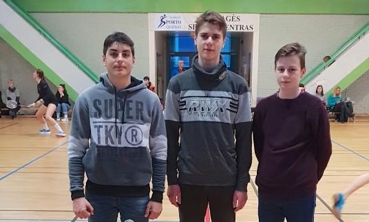 Rokas ir Ąžuolas Barkauskai ir Lukas Bucevičius