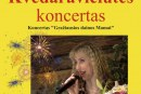 Vilmos Kvedaravičiūtės koncertas Balbieriškio KLC