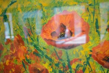 """Prienų meno mokyklos dailės klasės mokinių tapybos parodos """"Spalvos ir mintys"""" atidarymas (Lino Andriekaus nuotraukos)"""