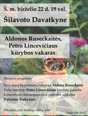 Kūrybos vakaras Šilavoto Davatkyne