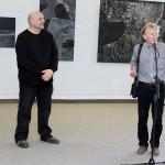1. Bienalės vadovas Evaldas Grinius ir VDA Kauno fakulteto prof. Pranas Griušys.