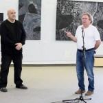 3. Bienalės vadovas Evaldas Grinius ir prof. Rimvydas Mulevičius (VDA Kauno fakultetas).