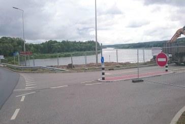 Iki rugpjūčio 30 d. uždarytas eismas S. Dariaus ir S. Girėno gatvės atkarpoje nuo Greimų tilto iki Kranto gatvės