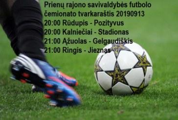 Prienų futbolo čempionato 2019 m. tvarkaraštis