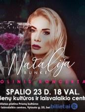 Solinis Natalijos Bunkės koncertas Prienų KLC