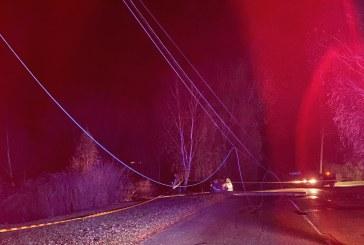 Prienuose po automobilio smūgio į stulpą atjungtas elektros tiekimasPramonės gatvėje