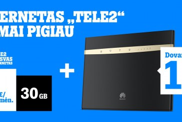 """""""Tele2"""" pasiūlymas šeimoms: internetas namams nuo 2 Eur/mėn., o modemas – 1 ct!"""
