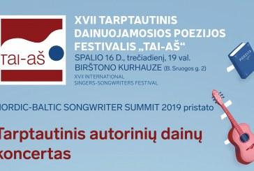 """XVII tarptautinis dainuojamosios poezijos festivalis """"Tai-Aš""""  Kurhauze"""