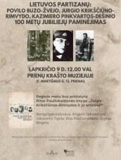 Lietuvos partizanų 100 metų jubiliejų paminėjimas