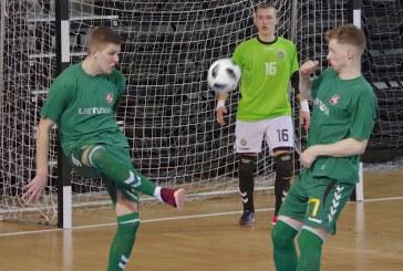 Prienuose – du draugiški salės futbolo mačai tarp Lietuvos ir Prancūzijosjaunimo rinktinių