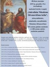 """Renginys """"Sakraliniu Nikodemo Silvanavičiaus keliu"""" Birštono muziejuje"""