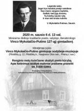 Vinco Mykolaičio-Putino gimtadienio minėjimas