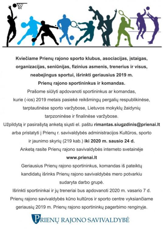 Skelbimas  - Geriausi sportininkai 2020+