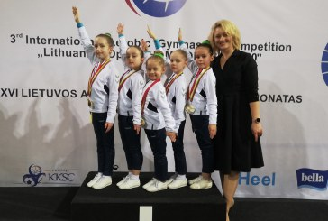 Prienų KKSC gimnastės – Lietuvos aerobinės gimnastikos čempionato nugalėtojos