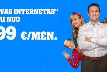 """""""Tele2"""" pasiūlymas šeimoms: internetas namams tik nuo 1,99 Eur/mėn."""