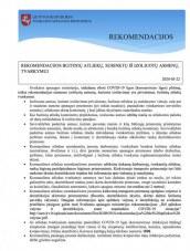 Rekomendacijos buitinių atliekų, surinktų iš izoliuotų asmenų, tvarkymui
