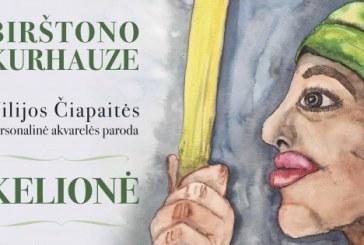 """Vilijos Čiapaitės personalinė akvarelės paroda """"Kelionė"""" Kurhauze (Videoreportažas)"""
