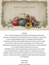 Seimo nario Andriaus Kupčinsko sveikinimas su Šv.Velykomis