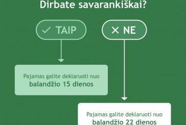 Pranešimas spaudai: VMI skelbia pirmąjį pajamų deklaravimo etapą: deklaruoti jau gali ir savarankiškai dirbantys