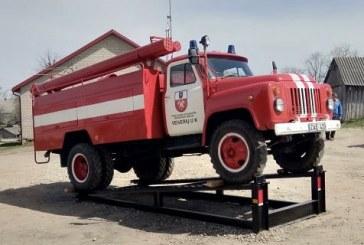 Veiveriuose įamžintas ugniagesių automobilis. Pirmadienį švęsime Šv. Florijono – sergėtojo nuo gaisrų, o kartu ugniagesių profesinę dieną