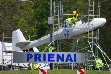 Įvažiavimo į Prienus simbolis bus keičiamas į vietinio gamintojo modelį