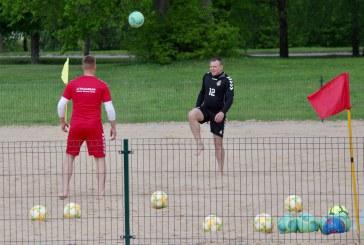 Prienuose stovyklą surengė Lietuvos paplūdimio futbolo rinktinė