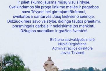 Birštono merės sveikinimas su Mindaugo karūnavimo švente