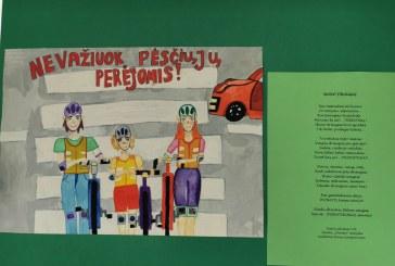 """Moksleiviai piešė saugaus eismo """"evangeliją"""""""