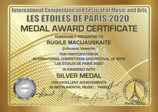 MEDAL AWARD CERTIFICATE silver medal_RUGILE MACIJAUSKAITE_43