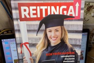 """Naujajame žurnalo """"Reitingai"""" numeryje išskirtinės pozicijos atiteko ir krašto švietimo įstaigoms"""