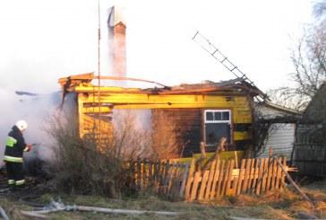 Trečionių kaime sudegė gyvenamasis namas