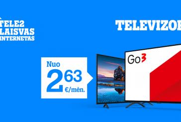 """""""Tele2"""" pasiūlymai: pagalbininkai kokybiškam laisvalaikiui namuose ir dovanos apsidraudus automobilį"""