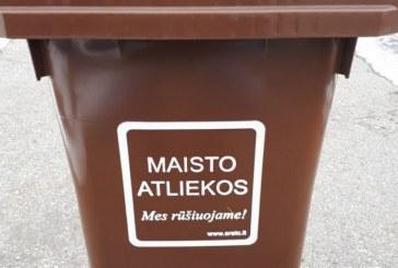 Buitinių atliekų rūšiavimas mažina neperdirbtų atliekų kiekį ir kartu tausoja gamtą