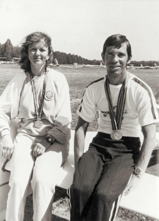 1988 m. Janina Paplauskaitė-Leonavičienė ir Vytautas Sabeckis