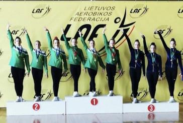 Kauno rajono atvirose aerobinėse gimnastikos varžybose – Viltės Martusevičiūtės sėkmė
