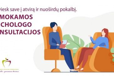 Nemokamos psichologo konsultacijos Birštono savivaldybės gyventojams