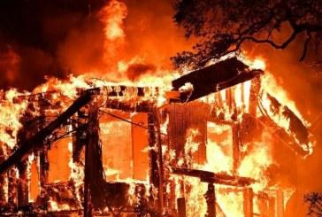 Gražučių kaime sudegė namas, žmonės nenukentėjo