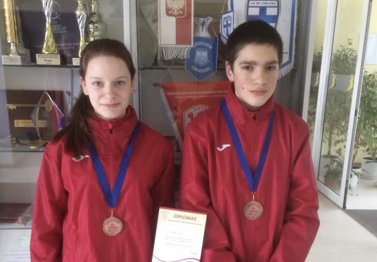 Birštono SC sportinio ėjimo ėjikai Armanda Tolytė ir Nojus Butėnas