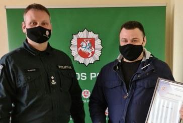 Prienų gyventojui – policijos pareigūnų padėka