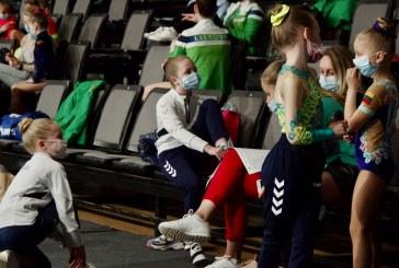 Lietuvos aerobinės gimnastikos čempionate – sėkmingi Prienų KKSC gimnasčių pasirodymai