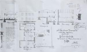 Dromelio kėdžių fabriko planas