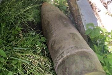 Kaimo sodyboje Veiverių seniūnijoje aptiktas artilerijos sviedinys